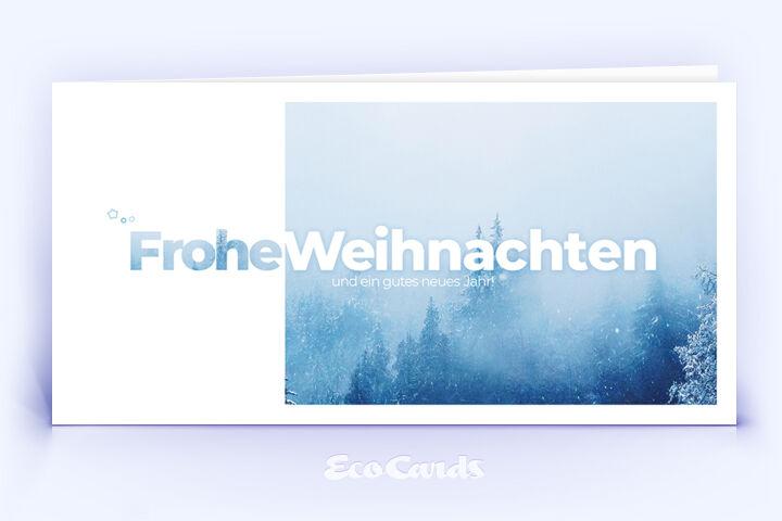 Weihnachtskarte Nr. 2022 hellblau mit einer Fotografie