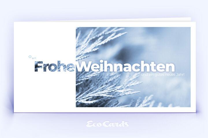 Weihnachtskarte Nr. 2028 hellblau mit einem Foto