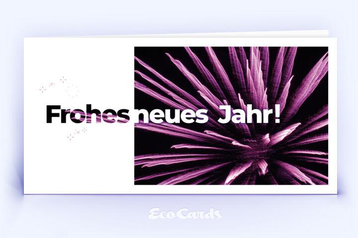 Neujahrskarte Nr. 2032 pink mit Fotografie