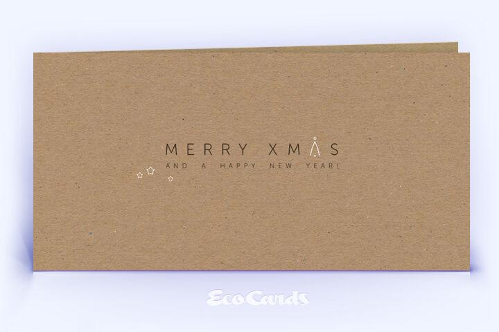Weihnachtskarte Nr. 2106 naturfarben mit einem typografisch gestalteten Design