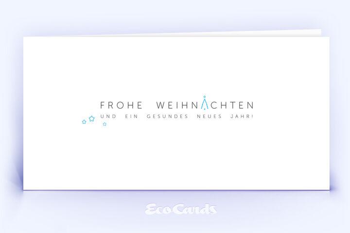 Weihnachtskarte Nr. 2108 blau mit einem typografischem Motiv