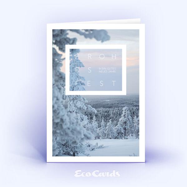 Weihnachtskarte Nr. 2109 hellblau mit einer Fotoimpression