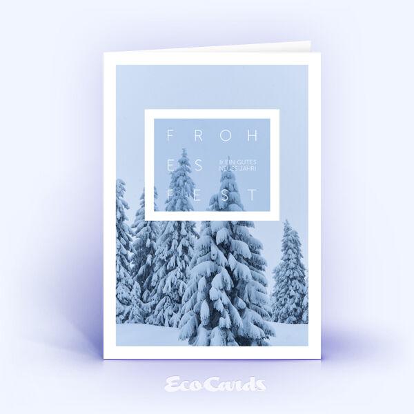 Weihnachtskarte Nr. 2113 hellblau mit Fotoimpression