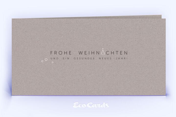 Weihnachtskarte Nr. 2114 grau mit einem typografischem Layout