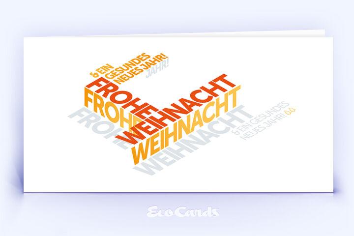 Weihnachtskarte Nr. 2122 orange mit Word-Cloud