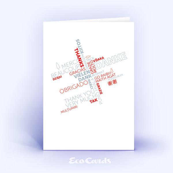 Dankeskarte Nr. 2141 rot mit Wort-Wolke