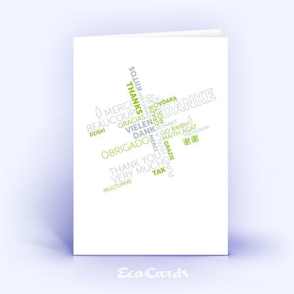 Dankeskarte Nr. 2145 gruen mit Word Cloud