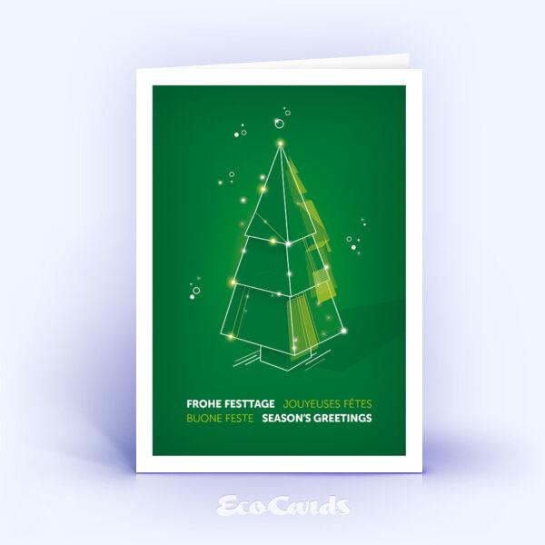 Weihnachtskarte Nr. 2205 gruen mit Weihnachtsbaum