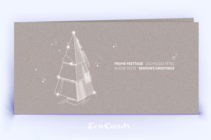 Weihnachtskarte Nr. 2214 grau mit Weihnachtsbaum