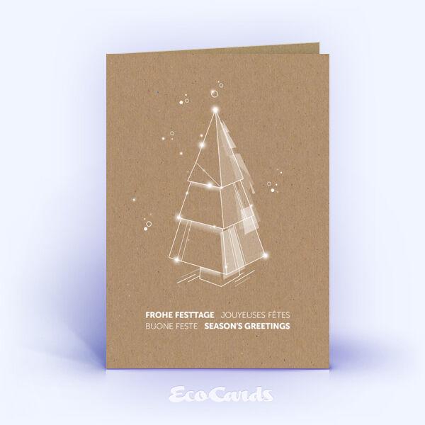 Weihnachtskarte Nr. 2215 naturfarben mit einem Weihnachtsbaum