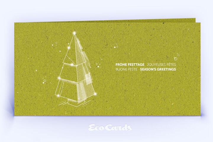 Weihnachtskarte Nr. 2216 gruen mit Weihnachtsbaum