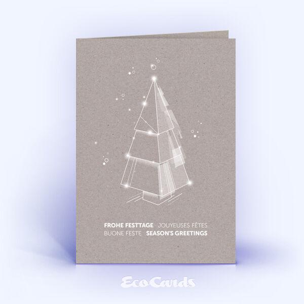 Weihnachtskarte Nr. 2217 grau mit Weihnachtsbaum