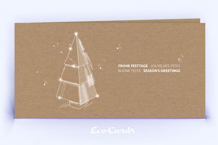 Weihnachtskarte Nr. 2218 naturfarben mit Weihnachtsbaum