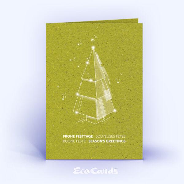 Weihnachtskarte Nr. 2219 gruen mit einem Weihnachtsbaum