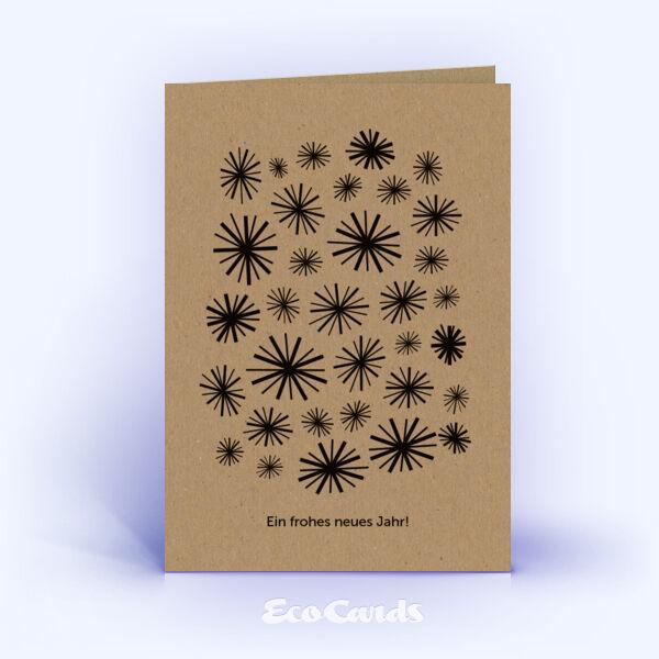 Weihnachtskarten 229 braun mit Zeichnung sind mit einem modernen ...