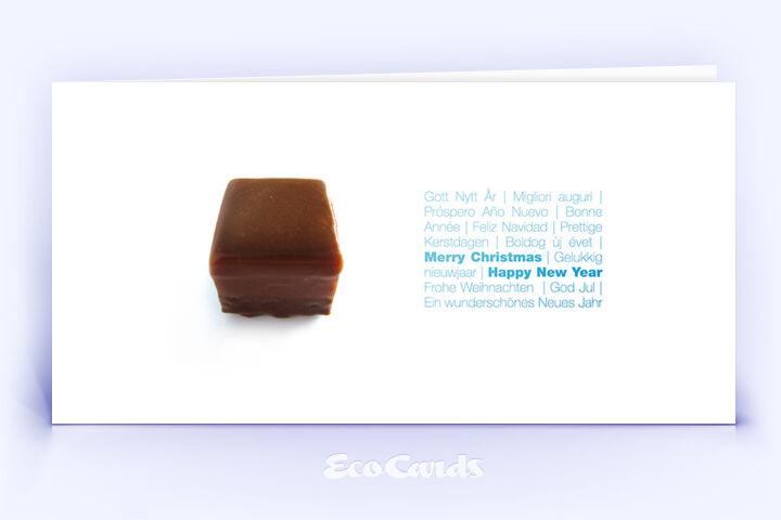 Öko Weihnachtskarte Nr. 340 weiss mit einer Fotoimpression auf der Vorderseite ist mit einem stilvollen Artwork bedruckt.