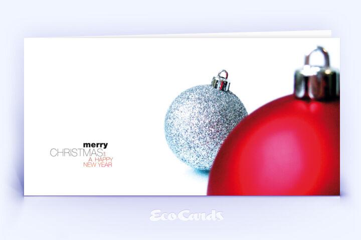 weihnachtskarte 362 rot mit mehreren christbaumkugeln ist. Black Bedroom Furniture Sets. Home Design Ideas
