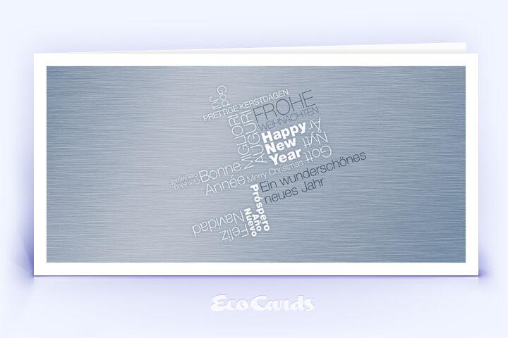 Weihnachtskarte Nr. 410 silber mit Word-Cloud