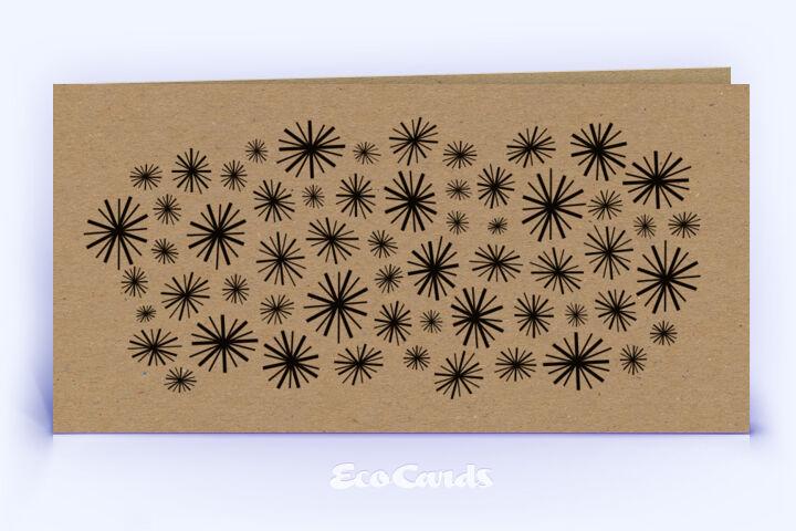 Öko Weihnachtskarte Nr. 470 braun mit grafischer Darstellung im Retro-Look zeigt eine schlichte Aufmachung.