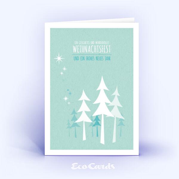 weihnachtskarten 495 tuerkis mit christbaum sind mit einem. Black Bedroom Furniture Sets. Home Design Ideas