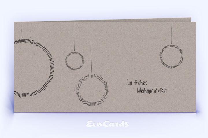 Öko Weihnachtskarte Nr. 546 grau mit handgefertigter Zeichnung zeigt ein grafisches Artwork.