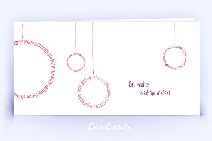 Weihnachtskarte Nr. 564 rot mit einer handgefertigten Zeichnung