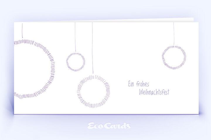 Weihnachtskarte Nr. 568 blau mit einer handgemalten Zeichnung