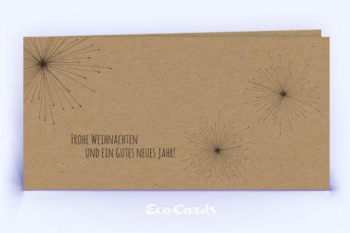 Öko Weihnachtskarte Nr. 570 braun mit handgezeichneter Illustration zeigt ein abstraktes Motiv.