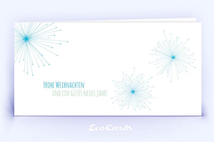 Öko Weihnachtskarte Nr. 578 blau mit einer handgefertigten Zeichnung ist mit einem schönen Artwork bedruckt.