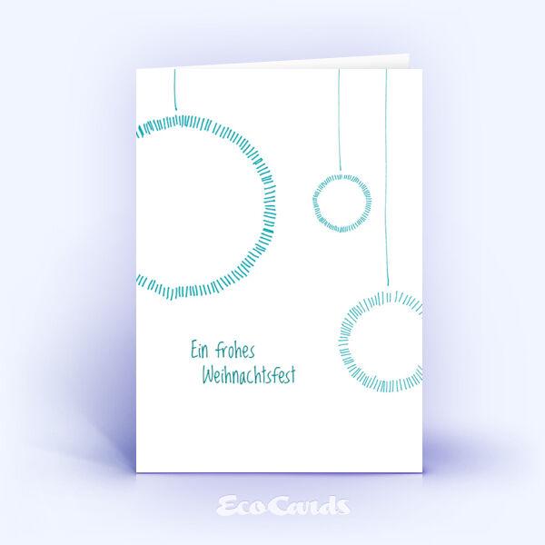 Öko Weihnachtskarten Nr. 625 blau mit handgefertigter Zeichnung sind mit einem stylishen Kartenmotiv bedruckt.