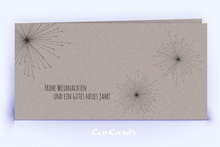 Öko Weihnachtskarte Nr. 678 grau mit einer Zeichnung zeigt eine individuelle Gestaltung.