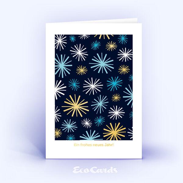 Öko Weihnachtskarten Nr. 687 blau mit Illustration sind mit einem stilvollen Design bedruckt.