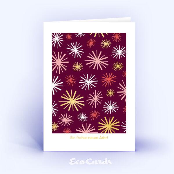 Öko Weihnachtskarten Nr. 689 rot mit einer weihnachtlichen Illustration sind mit einem originellen Motiv bedruckt.