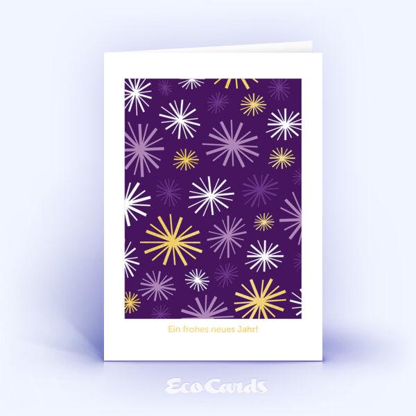 Öko Weihnachtskarten Nr. 691 lila mit einer Illustration sind mit einem schönen Kartenmotiv bedruckt.