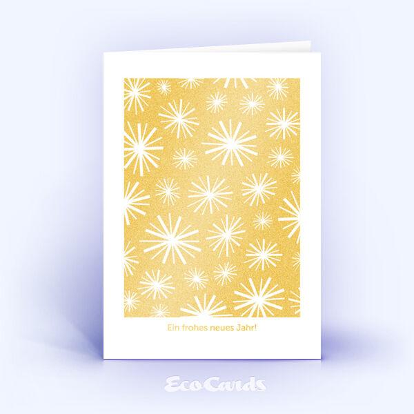 Öko Weihnachtskarten Nr. 693 gold mit einer Illustration zeigen ein exklusives Design.