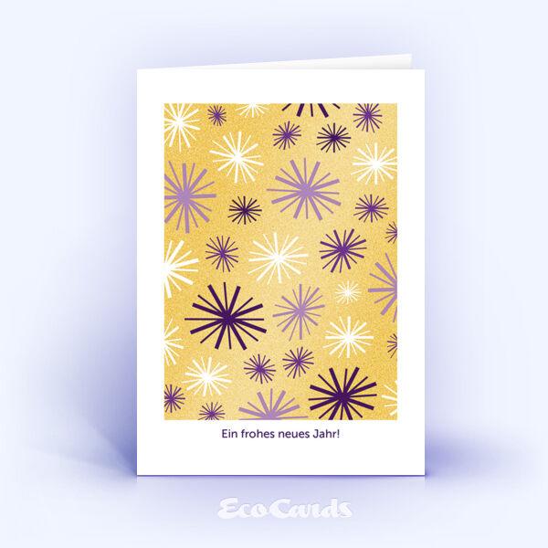 Öko Weihnachtskarten Nr. 695 gold mit weihnachtlicher Illustration zeigen ein individuelles Artwork.