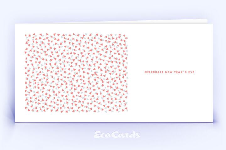Weihnachtskarte Nr. 700 rot mit retro Kartenmotiv