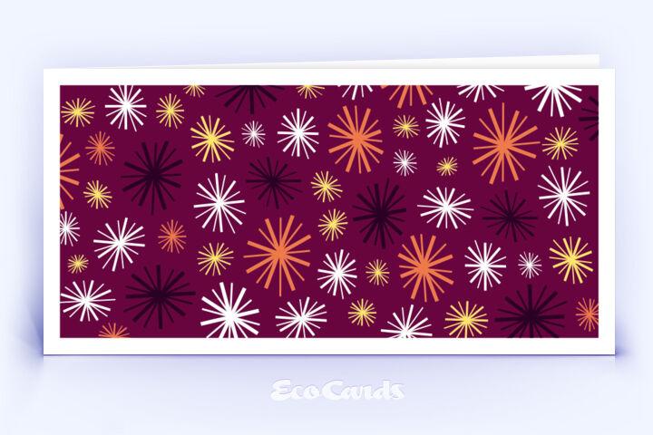 Öko Weihnachtskarte Nr. 710 rot mit grafischer Darstellung im Vintage-Design zeigt eine ausgefallene Anmutung.