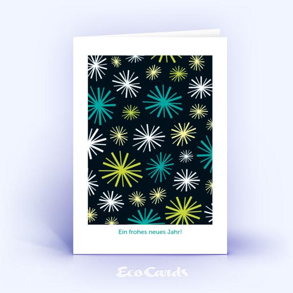 Öko Weihnachtskarten Nr. 713 dunkel im Retro-Look zeigen ein stylisches Dekor.