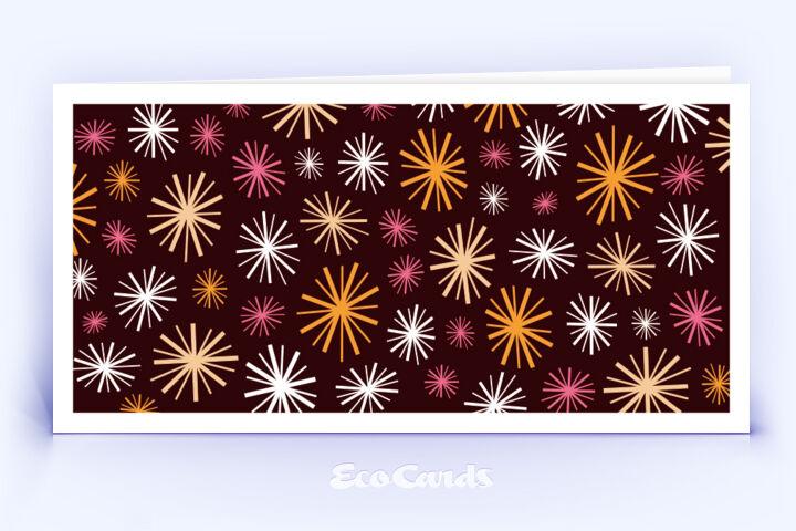 Öko Weihnachtskarte Nr. 714 orange im Retro-Look ist mit einem modernen Design bedruckt.