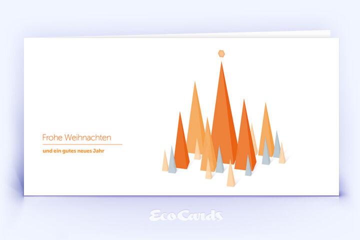 weihnachtskarte 748 orange mit design aus dreiecken. Black Bedroom Furniture Sets. Home Design Ideas