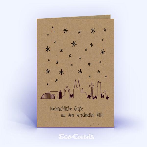 weihnachtskarten 785 braun mit k ln skyline sind mit einem. Black Bedroom Furniture Sets. Home Design Ideas