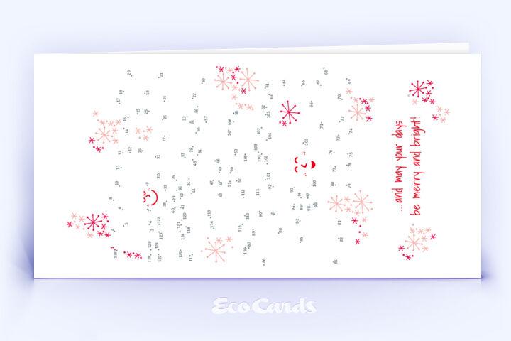 Öko Weihnachtskarte Nr. 788 rot mit einem Bilderrätsel zeigt ein schönes Design.