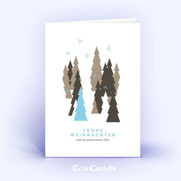 Öko Weihnachtskarten Nr. 807 naturfarben mit Christbaum zeigen eine schlichte Gestaltung.