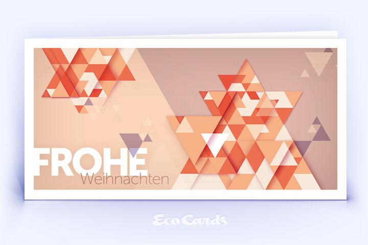 Öko Weihnachtskarte Nr. 816 orange mit einem Weihnachtsbaum zeigt ein exklusives Design.