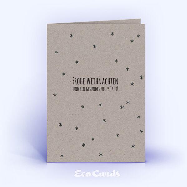 Öko Weihnachtskarten Nr. 891 grau mit Sternen-Muster zeigen ein schönes Design.