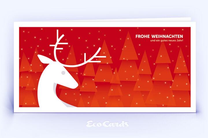 Rote Weihnachtskarten.Weihnachtskarte Nr 914