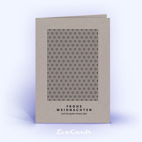 Öko Weihnachtskarten Nr. 927 grau mit einem Sternen-Muster zeigen ein exklusives Motiv.