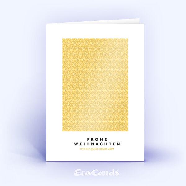 Öko Weihnachtskarten Nr. 929 gold mit Muster aus kleinen Sternen zeigen ein exklusives Artwork.