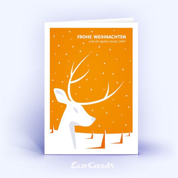 originelle weihnachtskarte mit orangenem motiv. Black Bedroom Furniture Sets. Home Design Ideas